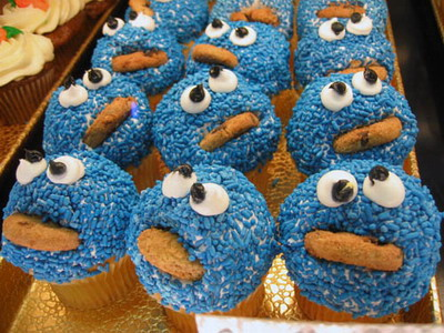 Cookie Monster Cupcake for International No Diet Day