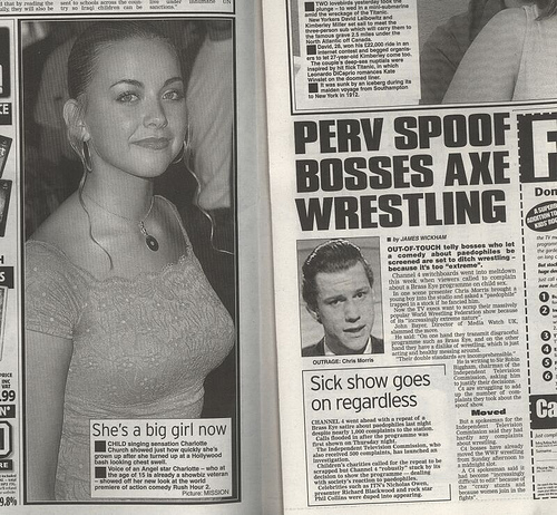 the sun brass eye charlotte church hypocrisy