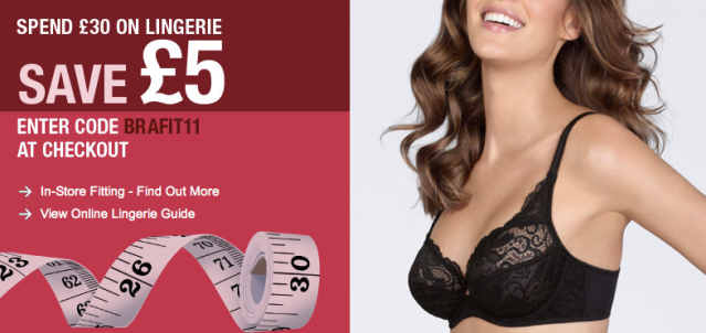 Marks & Spencer Bra Fitting Discount