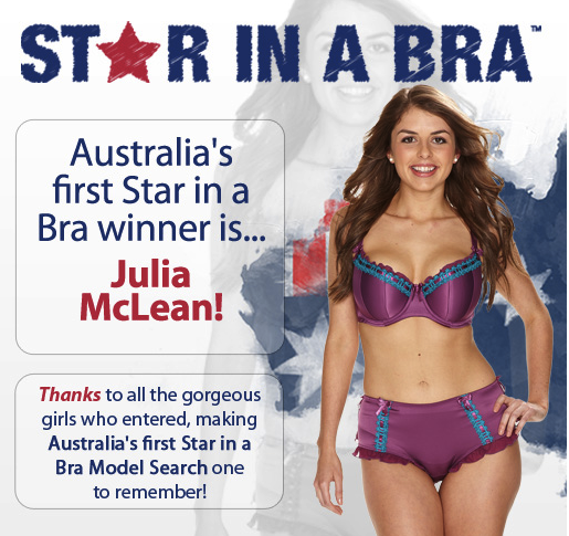 5fa642d17a7 Julia wins Curvy Kate Australia s Star in a Bra!