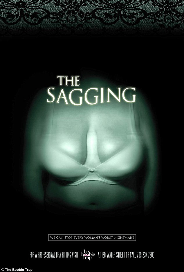 The Sagging Boobie Trap Bra Fitting Poster
