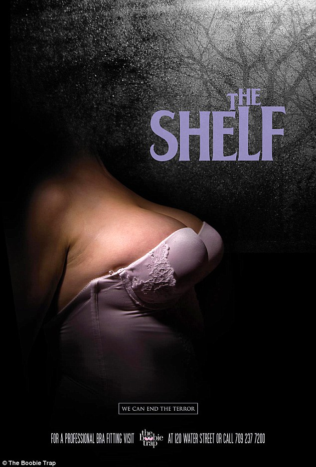 The Shelf Boobie Trap Bra Fitting Poster