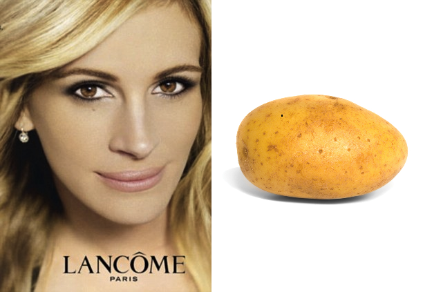 Julia Roberts Lancome Advert Banned Potato