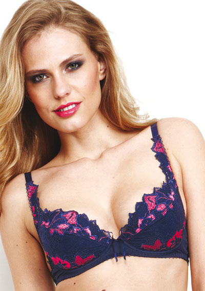 lepel-fiore-blue-pink-padded-plunge-bra