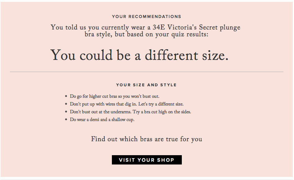 3fa9a4fcc8877 True Co s algorithm to make finding your bra size easy. Oh no ...