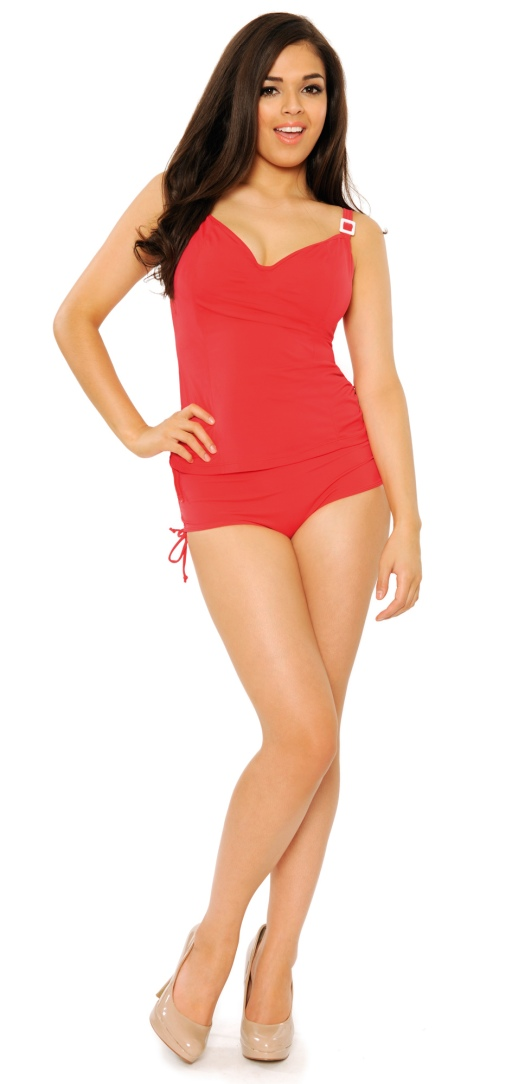 Paradise Red Tankini Curvy Kate
